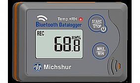 Data logger Temperature and humidity Bluetooth MILOGRHBL